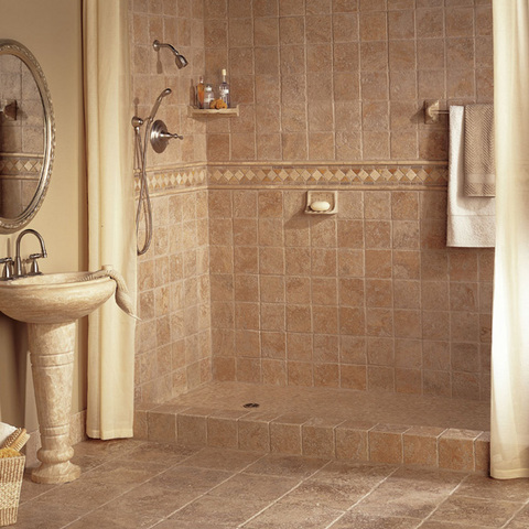 Bathroom tiles for Tiling a small bathroom ideas